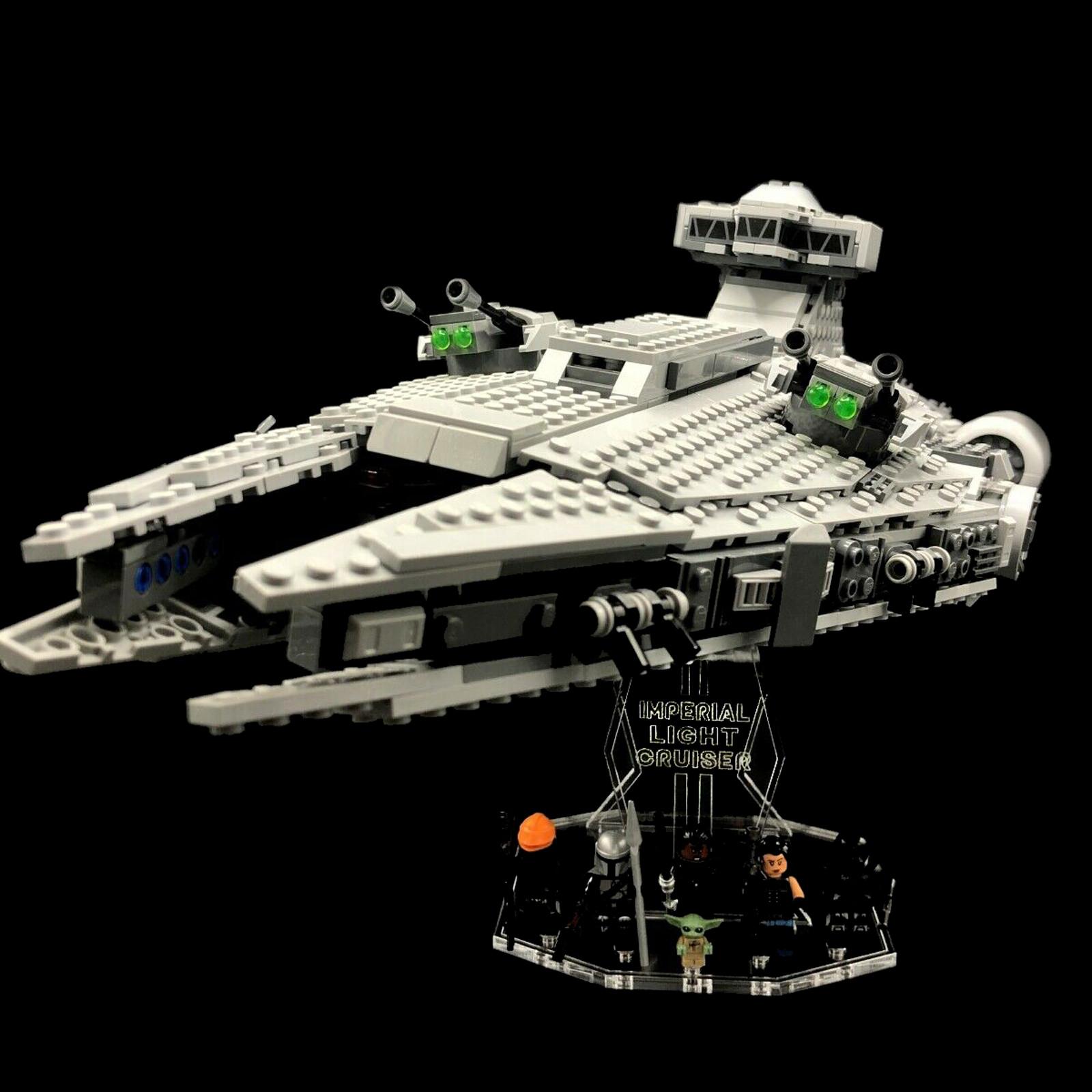 Acryl Deko Präsentation Standfuss LEGO Modell 75315 Imperial Light Cruiser