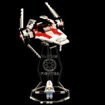 Acryl Deko Präsentation Standfuss LEGO Modell 6205 V-Wing Fighter