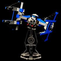 Acryl Deko Präsentation Standfuss LEGO Modell 6206 TIE Interceptor