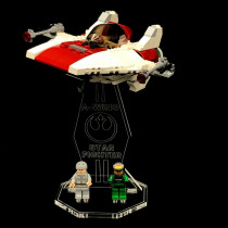 Acryl Display Stand - Acrylglas Modell Standfuss für LEGO 6207 A-Wing Fighter