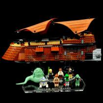 Acryl Deko Präsentation Standfuss LEGO Modell 6210 Jabba's Sail Barge