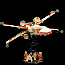 Acryl Deko Präsentation Standfuss LEGO Modell 6212 X-Wing Fighter