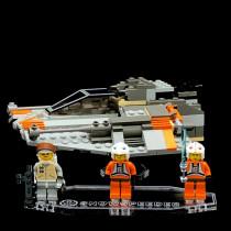 Acryl Display Stand - Acrylglas Modell Standfuss für LEGO 7130 Snowspeeder