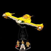 Acryl Deko Präsentation Standfuss LEGO Modell 7141 Naboo Fighter