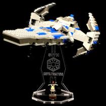 Acryl Deko Präsentation Standfuss LEGO Modell 7151 Sith Infiltrator
