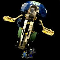 Acryl Deko Präsentation Standfuss LEGO Modell 7153 Jango Fett´s Slave I