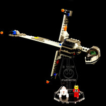 Acryl Deko Präsentation Standfuss LEGO Modell 7180 B-Wing