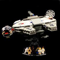 Acryl Deko Präsentation Standfuss LEGO Modell 7190 Millennium Falcon
