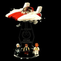 Acryl Display Stand - Acrylglas Modell Standfuss für LEGO 75003 A-Wing Starfighter