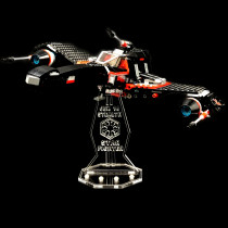 Acryl Deko Präsentation Standfuss LEGO Modell 75018 Jek-14´s Stealth Starfighter