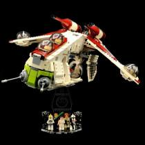 Acryl Display Stand - Acrylglas Modell Standfuss für LEGO 75021 Republic Gunship