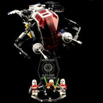 Acryl Deko Präsentation Standfuss LEGO Modell 75046 Coruscant Police Gunship