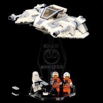 Acryl Deko Präsentation Standfuss LEGO Modell 75049 Snowspeeder