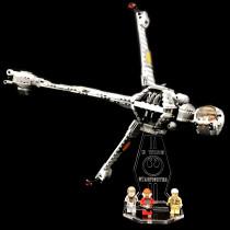 Acryl Deko Präsentation Standfuss LEGO Modell 75050 B-Wing