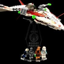 Acryl Deko Präsentation Standfuss LEGO Modell 75051 Jedi Scout Fighter