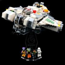 Acryl Deko Präsentation Standfuss LEGO Modell 75053 The Ghost