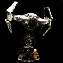 Acryl Deko Präsentation Standfuss LEGO Modell 75082 TIE Advanced Prototype