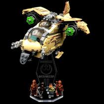 Acryl Deko Präsentation Standfuss LEGO Modell 75084 Wookiee Gunship