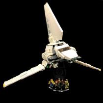 Acryl Deko Präsentation Standfuss LEGO Modell 75094 Imperial Shuttle Tydirium