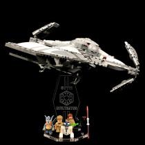 Acryl Deko Präsentation Standfuss LEGO Modell 75096 Sith Infiltrator
