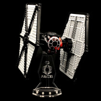 Acryl Deko Präsentation Standfuss LEGO Modell 75101 First Order Special Forces TIE Fighter