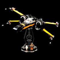 Acryl Deko Präsentation Standfuss LEGO Modell 75102 Poe´s X-Wing Fighter