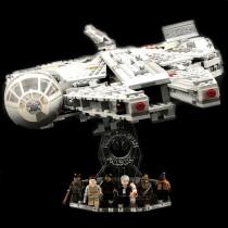 Acryl Deko Präsentation Standfuss LEGO Modell 75105 Millenium Falcon
