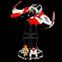 Acryl Display Stand - Acrylglas Modell Standfuss für LEGO 75135 Obi-Wan's Jedi Interceptor