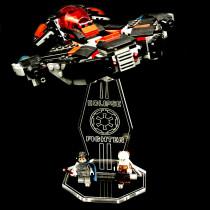 Acryl Deko Präsentation Standfuss LEGO Modell 75145 Eclipse Fighter