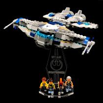 Acryl Deko Präsentation Standfuss LEGO Modell 75147 Star Scavenger