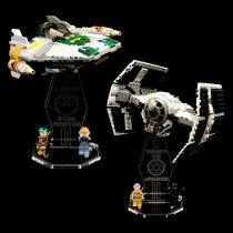 Acryl Display Stand - Acrylglas Modell Standfuss für LEGO 75150 Vader's TIE Advanced vs. A-Wing Starfighter