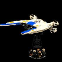 Acryl Deko Präsentation Standfuss LEGO Modell 75155 Rebel U-Wing Fighter