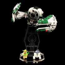 Acryl Deko Präsentation Standfuss LEGO Modell 75168 Yoda's Jedi Starfighter