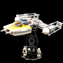 Acryl Deko Präsentation Standfuss LEGO Modell 75172 Y-Wing Starfighter
