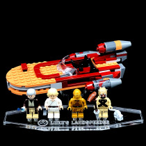 Acryl Deko Präsentation Standfuss LEGO Modell 75173 Luke´s Landspeeder