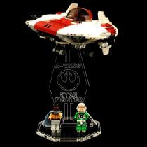 Acryl Deko Präsentation Standfuss LEGO Modell 75175 A-Wing Starfighter