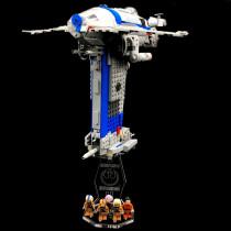Acryl Deko Präsentation Standfuss LEGO Modell 75188 Resistance Bomber