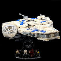 Acryl Deko Präsentation Standfuss LEGO Modell 75212 Kessel Run Millenium Falcon