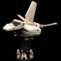 Acryl Deko Präsentation Standfuss LEGO Modell 75221 Imperial Landing Craft