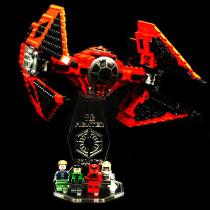 Acryl Deko Präsentation Standfuss LEGO Modell 75240  Major Vonregs Tie Fighter