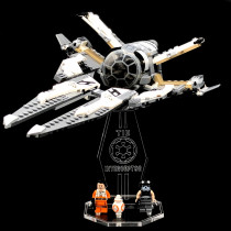Acryl Deko Präsentation Standfuss LEGO Modell 75242 TIE Interceptor