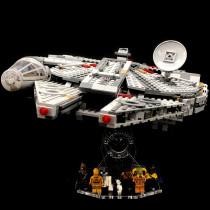 Acryl Deko Präsentation Standfuss LEGO Modell 75257 Millennium Falcon