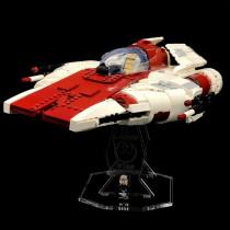 Acryl Deko Präsentation Standfuss LEGO Modell 75275 A-Wing Starfighter