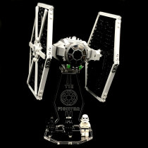 Acryl Display Stand - Acrylglas Modell Standfuss für LEGO 75300 Imperial TIE Fighter