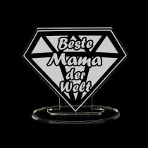 Acrylglas Diamant / Aufsteller für die Familie