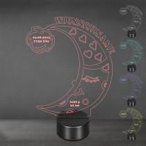 Acrylglas Aufsteller / Nachtlicht - Schlafender Mond mit LED