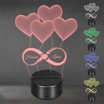 Acrylglas Aufsteller / Nachtlicht - Unendliche Liebe