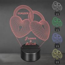 Acrylglas Aufsteller / Nachtlicht - Ewig verbunden
