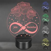 Acrylglas Aufsteller / Nachtlicht - Die Blüten der Liebe