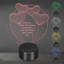 Acrylglas Aufsteller / Nachtlicht - Worte der Liebe